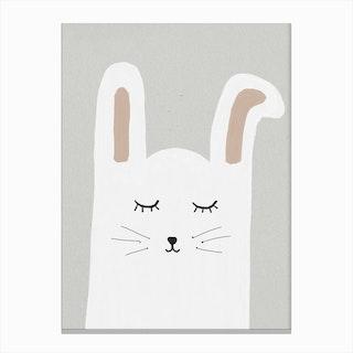 Sleepy Rabbit Canvas Print