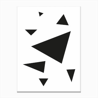 Triangles Abstract print Canvas Print