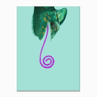 Candy Chameleon Canvas Print