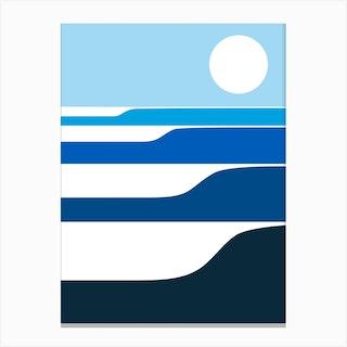 Sunrise Waves Canvas Print