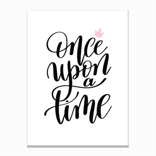 Once Upon A Time Black Canvas Print