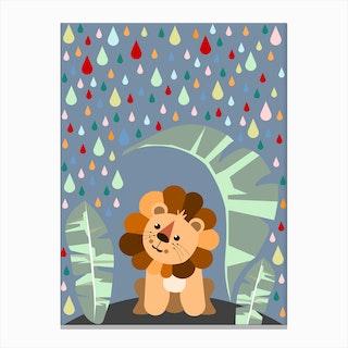 Kids Lion I Canvas Print