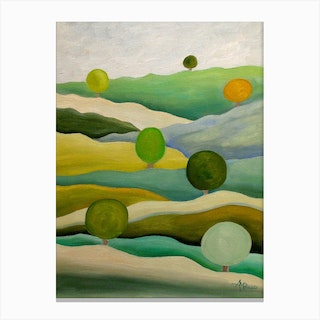 Back To The Green Fields Canvas Print