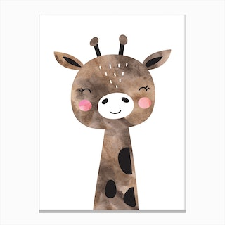 Brown Giraffe Canvas Print
