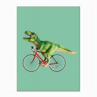 T-Rex Bike Canvas Print