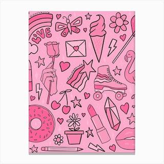 Pink Print Canvas Print