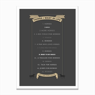 Things I Want ... Canvas Print