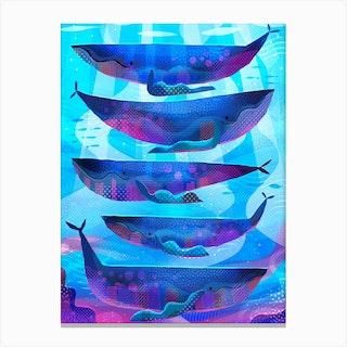 Blue Whales Canvas Print
