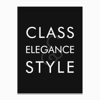 Class Elegance Style Canvas Print