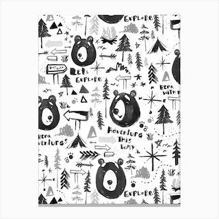 Bear Adventure Canvas Print