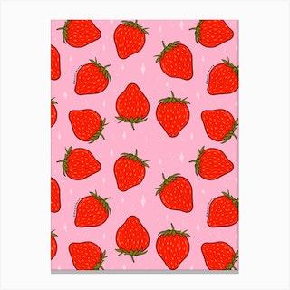 Strawberry Print Canvas Print