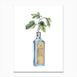 Gin Makes Everything Ok Canvas Print