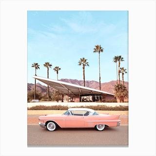 Palm Springs Car Canvas Print