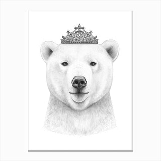 Queen Bear Canvas Print