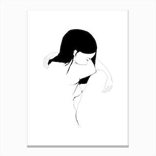 akt3 Sad White Canvas Print