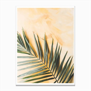 Green and Yellow Leaf Canvas Print