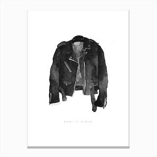 Leather Jacket Canvas Print