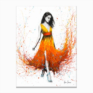 Electric Flame Canvas Print