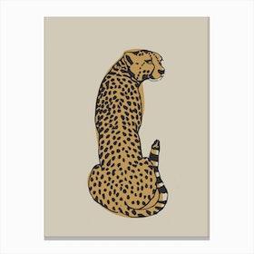 Beige Leopard Canvas Print