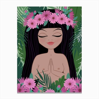 Tropical Namaste Canvas Print