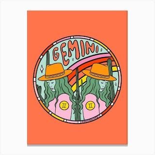 Gemini Cowgirl Canvas Print