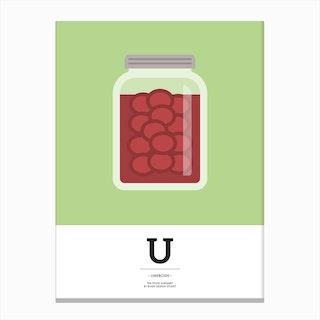 The Food Alphabet – U Canvas Print