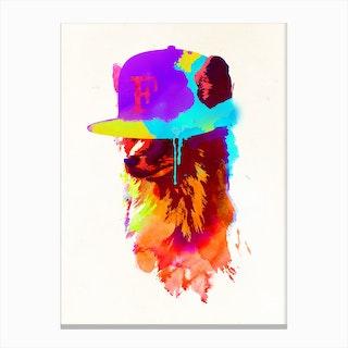 Foxeys Favorite Cap Canvas Print