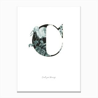 Flower Alphabet C Canvas Print