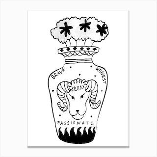 Aries Vase Canvas Print