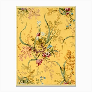 Chintz Flower Pattern Canvas Print