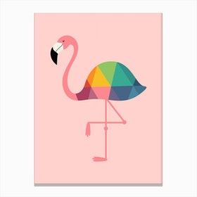 Rainbow Flamingo Canvas Print