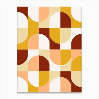 Bold Geo Tiles 03 Canvas Print
