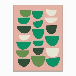 Green Bowls Canvas Print