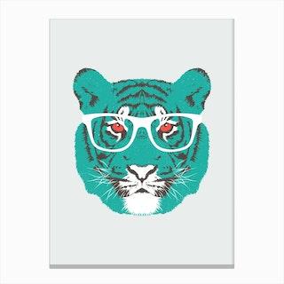 Bookish Big Cat in Canvas Print