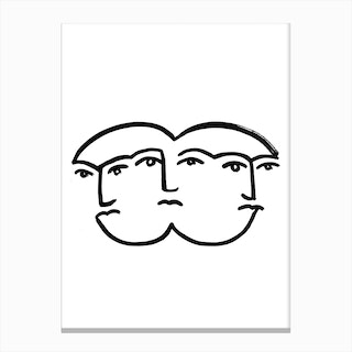 Merged Faces 2 Canvas Print