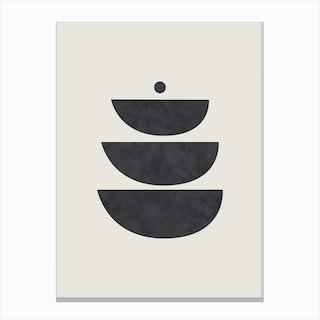 Abstract Circles Five Canvas Print