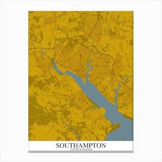 Southampton Yellow Blue Canvas Print