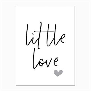 Little Love Typography Canvas Print