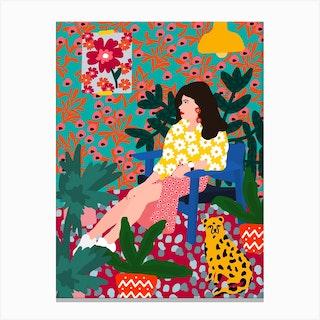 Waiting Girl Canvas Print