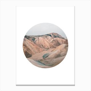 Landscapes Circular 3 Landmannalaugar Canvas Print