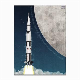 Apollo Rocket Moon Lander Canvas Print