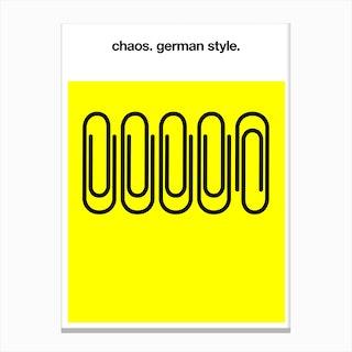 Chaos German Style Canvas Print