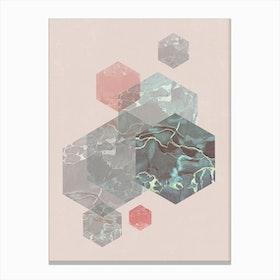 Exagonal Love Canvas Print
