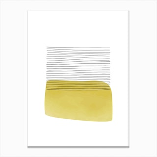 Yellow And Grey Field Canvas Print