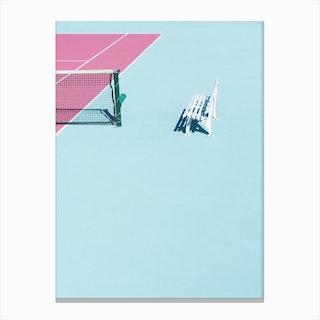Pinkcourt Bench Canvas Print