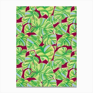 Green Monstera Canvas Print