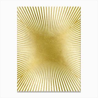 Converge Heavy Gold Canvas Print