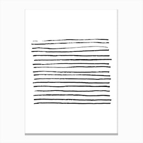 Abstract Black Zebra Lines Canvas Print