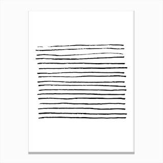 Abstract Black Zebra Lines Canvas Print