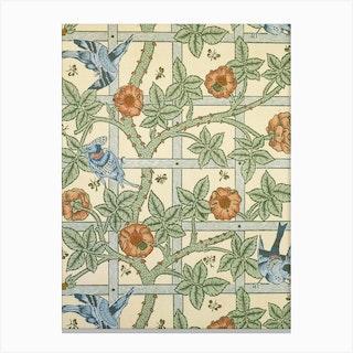 Trellis, William Morris And Phillip Webb Canvas Print